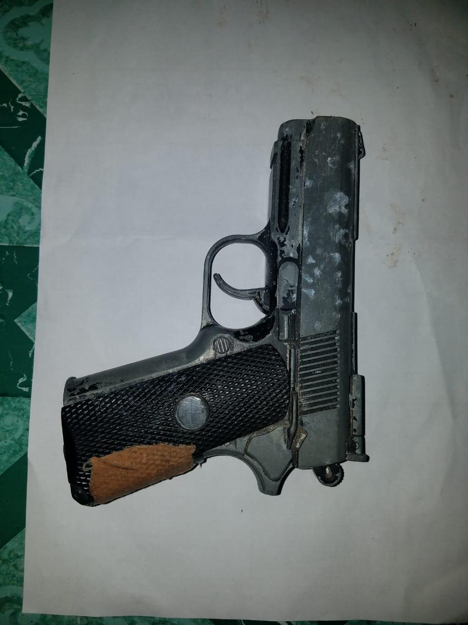 Two arrested for illegal gun, ganja possession
