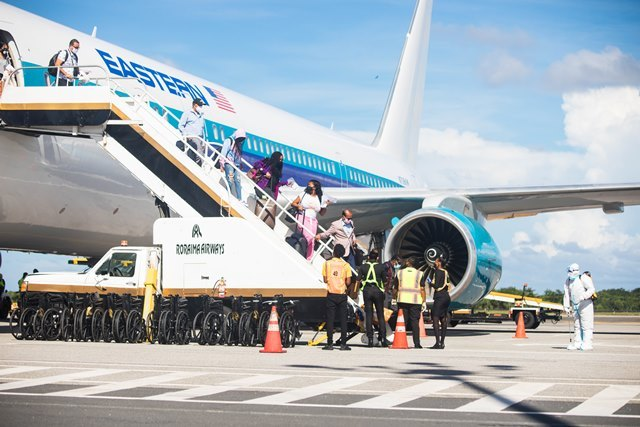Approx. 1300 Guyanese return since June 6−more to arrive on flights from Trinidad, Miami, New York and Toronto