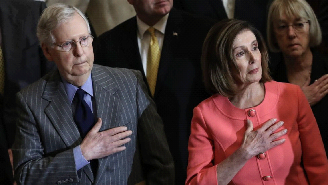 Nancy Pelosi and Mitch McConnell's homes vandalised