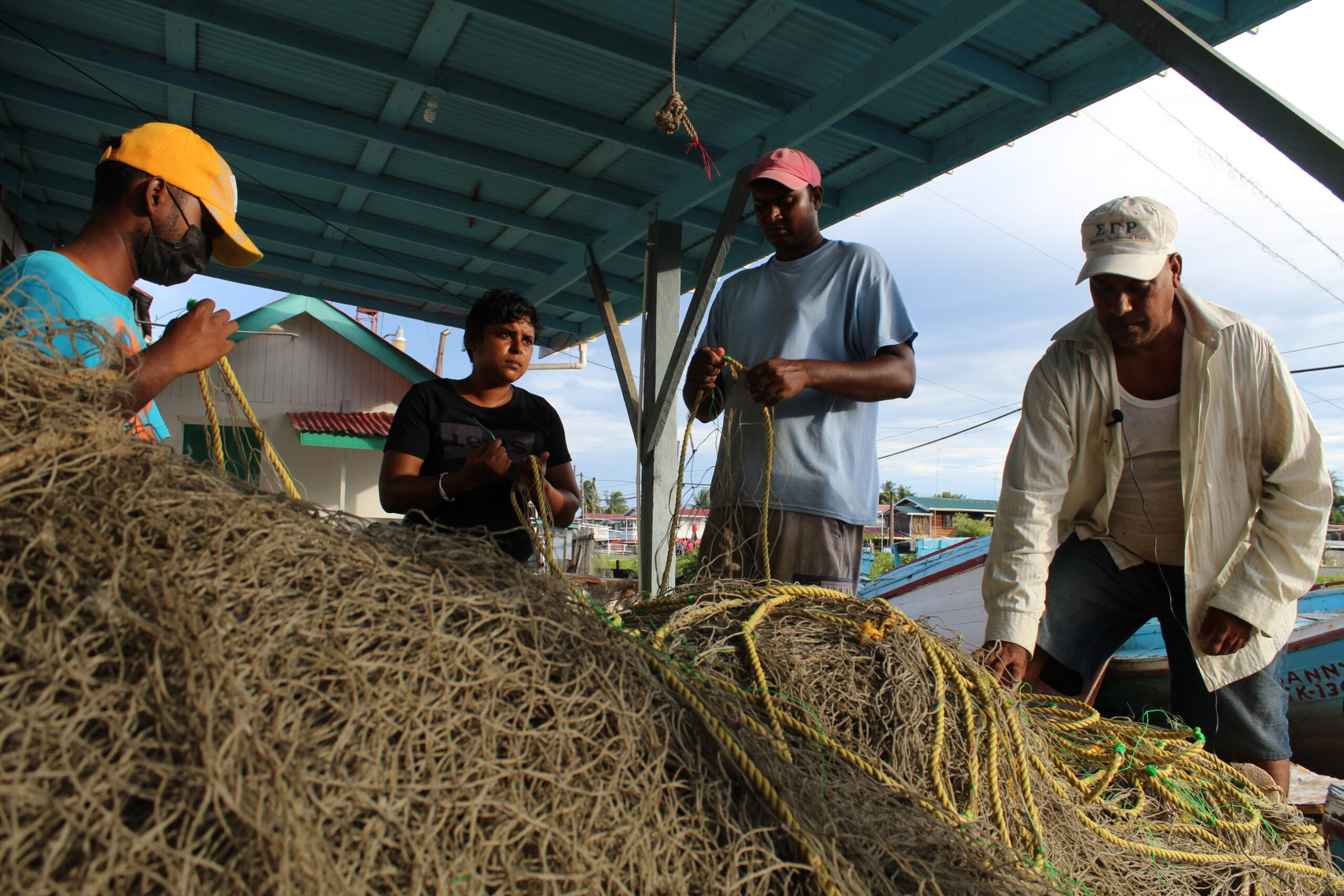 At No. 66 Village: Seine workers doing part to support the fishing industry