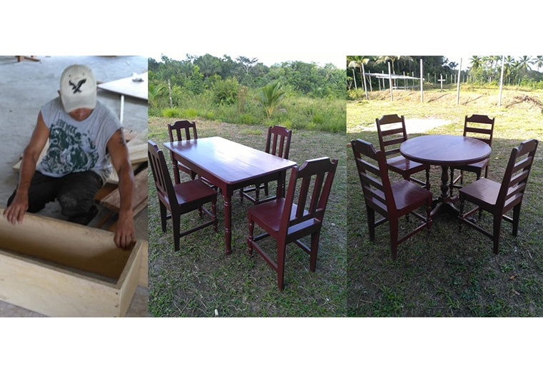 Cabora Village joiners and their attractive furniture