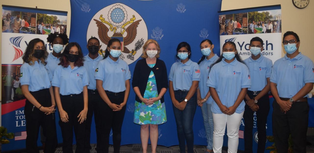 Nine Guyanese youth for US Youth Ambassadors Programme