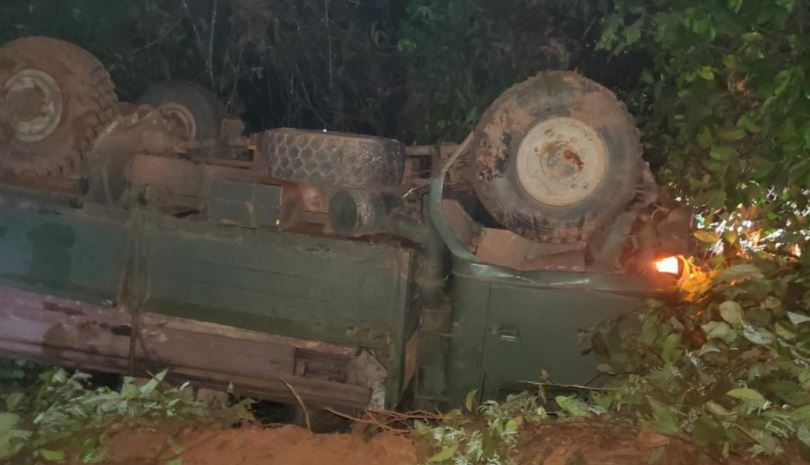 Two dead as truck topples at Buckhall