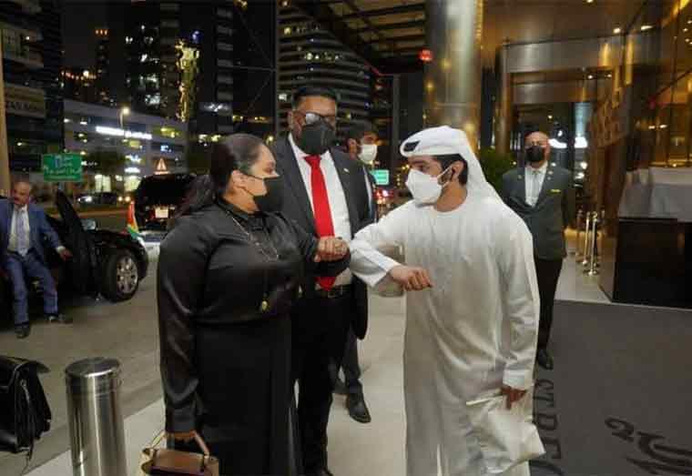 Ali arrives in UAE for Guyana Day at Dubai Expo