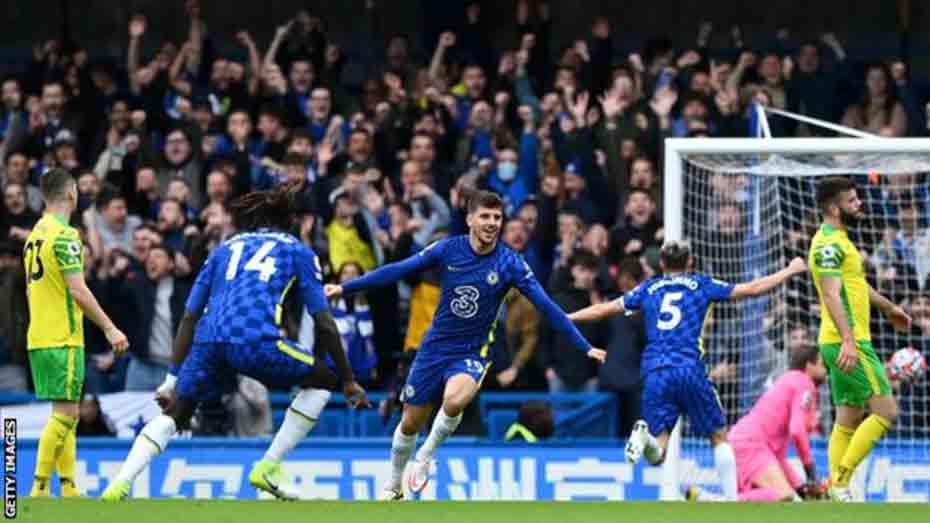 Chelsea put 7 past Norwich