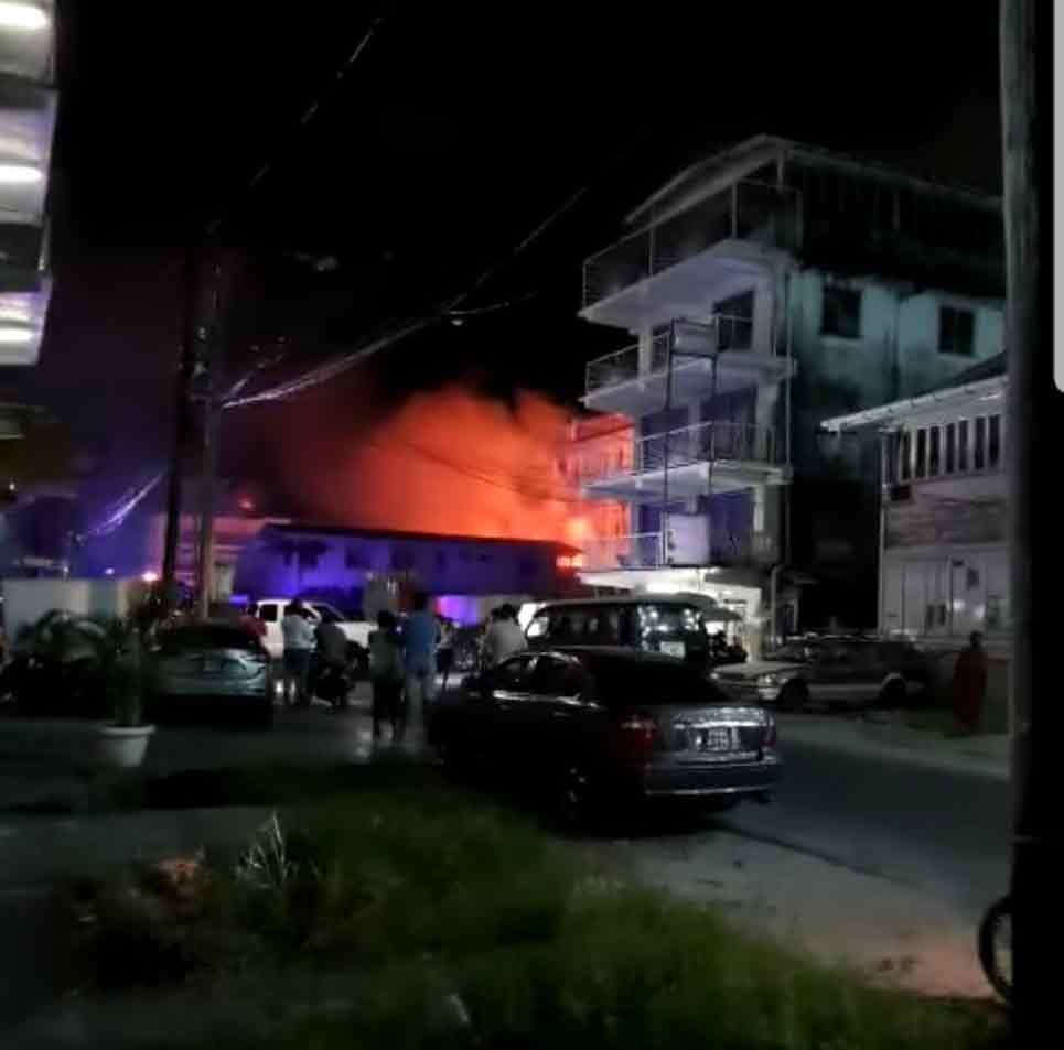 Fire Service denies rank falls into burning building