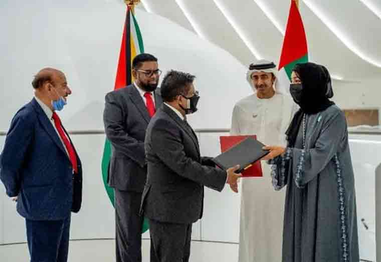 MOU inked to advance technical assistance and cooperation between the UAE and Guyana
